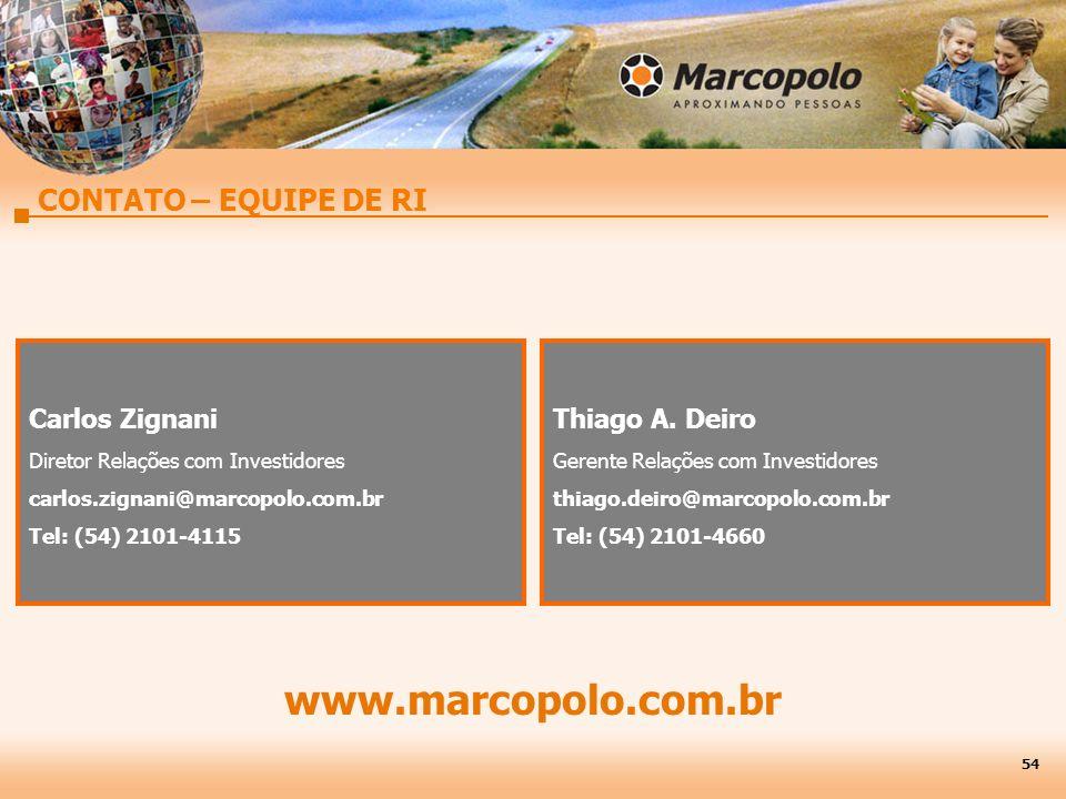 www.marcopolo.com.br CONTATO – EQUIPE DE RI Carlos Zignani