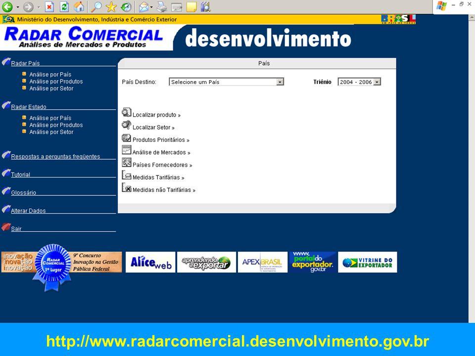 http://www.radarcomercial.desenvolvimento.gov.br FABIO MARTINS FARIA