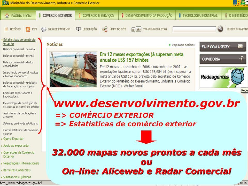 www.desenvolvimento.gov.br => COMÉRCIO EXTERIOR
