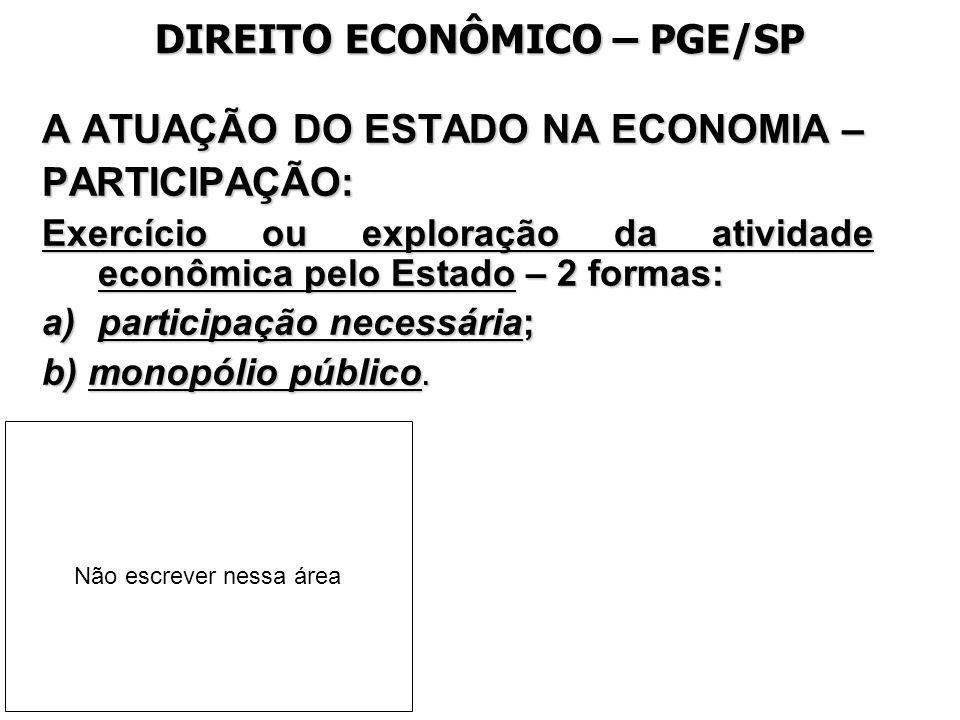 DIREITO ECONÔMICO – PGE/SP
