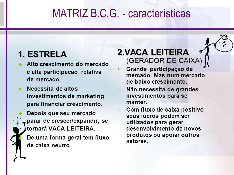 MATRIZ B.C.G. - características