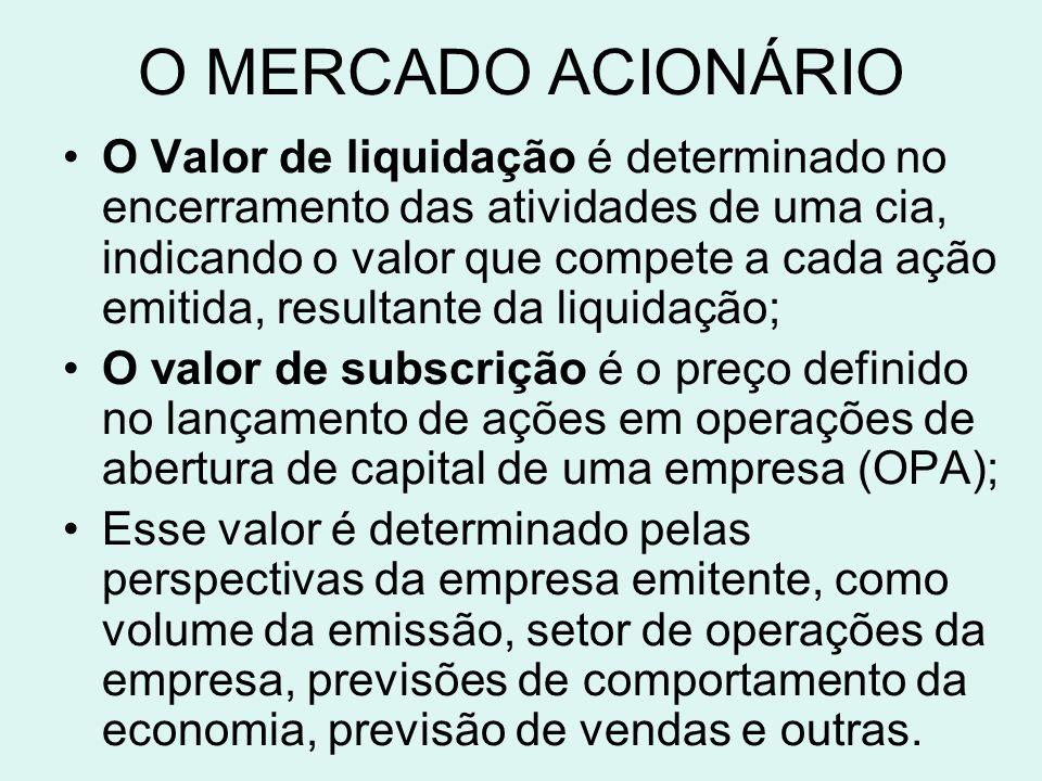 O MERCADO ACIONÁRIO