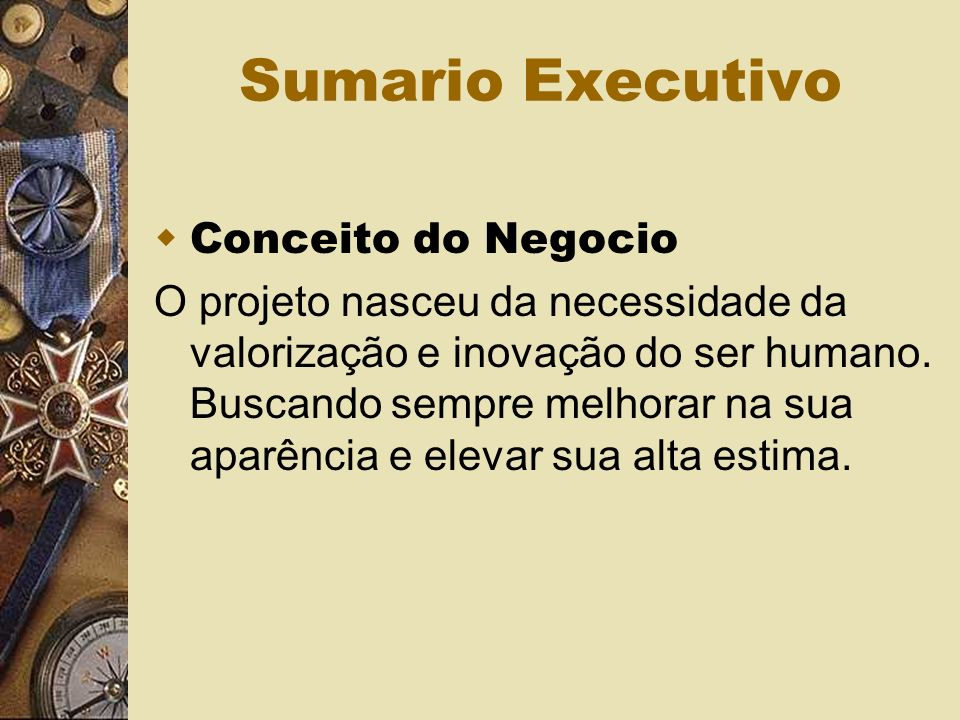 Sumario Executivo Conceito do Negocio