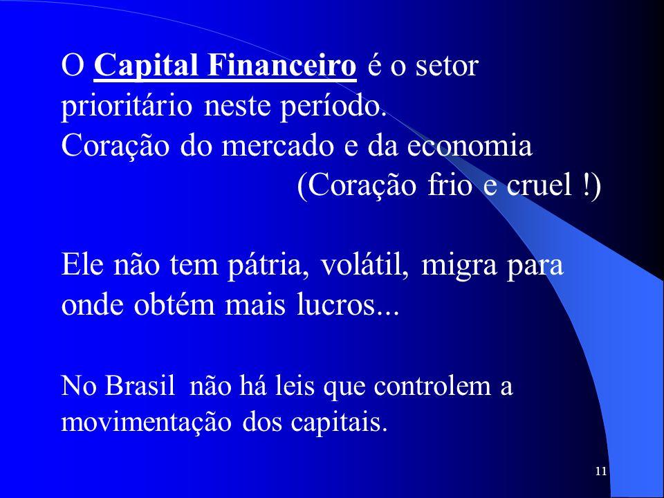 O Capital Financeiro é o setor prioritário neste período.