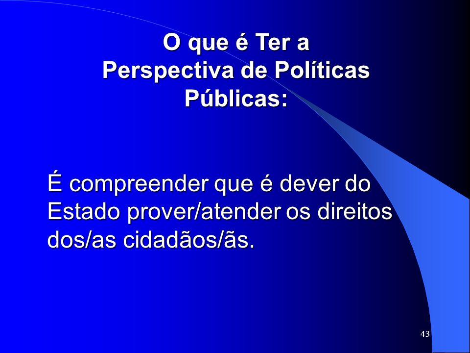 Perspectiva de Políticas Públicas: