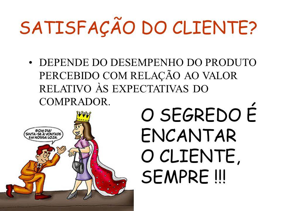 SATISFAÇÃO DO CLIENTE O SEGREDO É ENCANTAR O CLIENTE, SEMPRE !!!