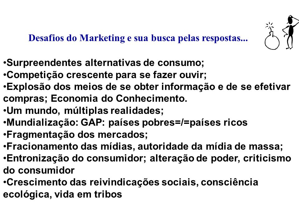 Desafios do Marketing e sua busca pelas respostas...