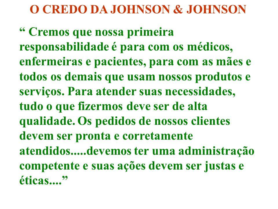 O CREDO DA JOHNSON & JOHNSON
