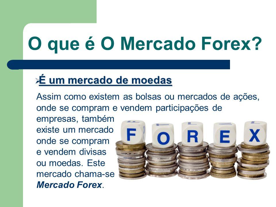 O que é O Mercado Forex É um mercado de moedas
