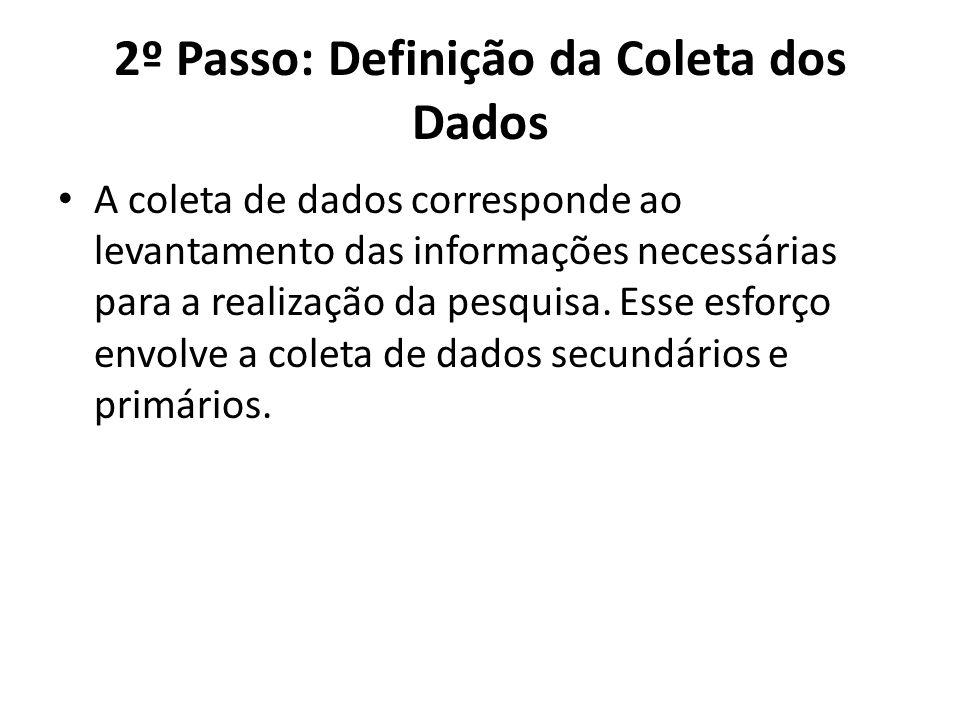 2º Passo: Definição da Coleta dos Dados