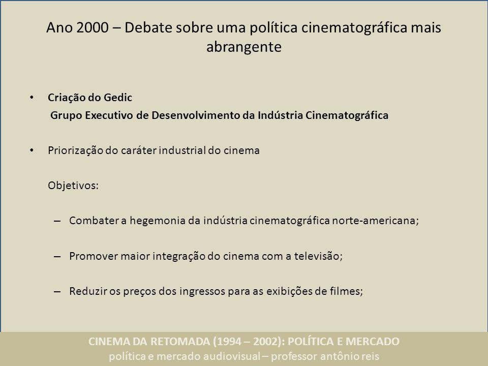 Ano 2000 – Debate sobre uma política cinematográfica mais abrangente