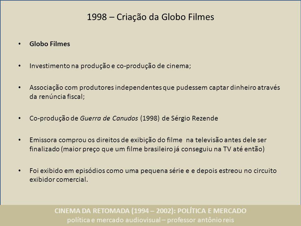 1998 – Criação da Globo Filmes