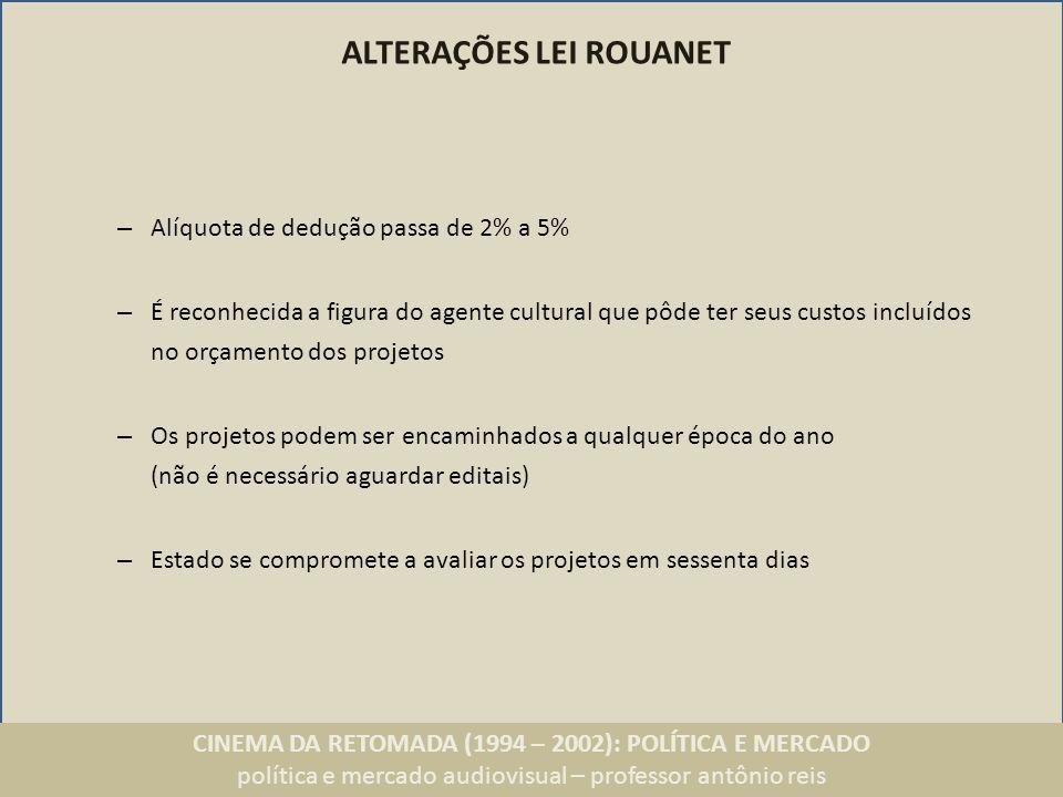 ALTERAÇÕES LEI ROUANET