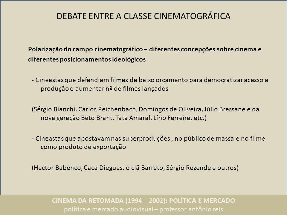 DEBATE ENTRE A CLASSE CINEMATOGRÁFICA