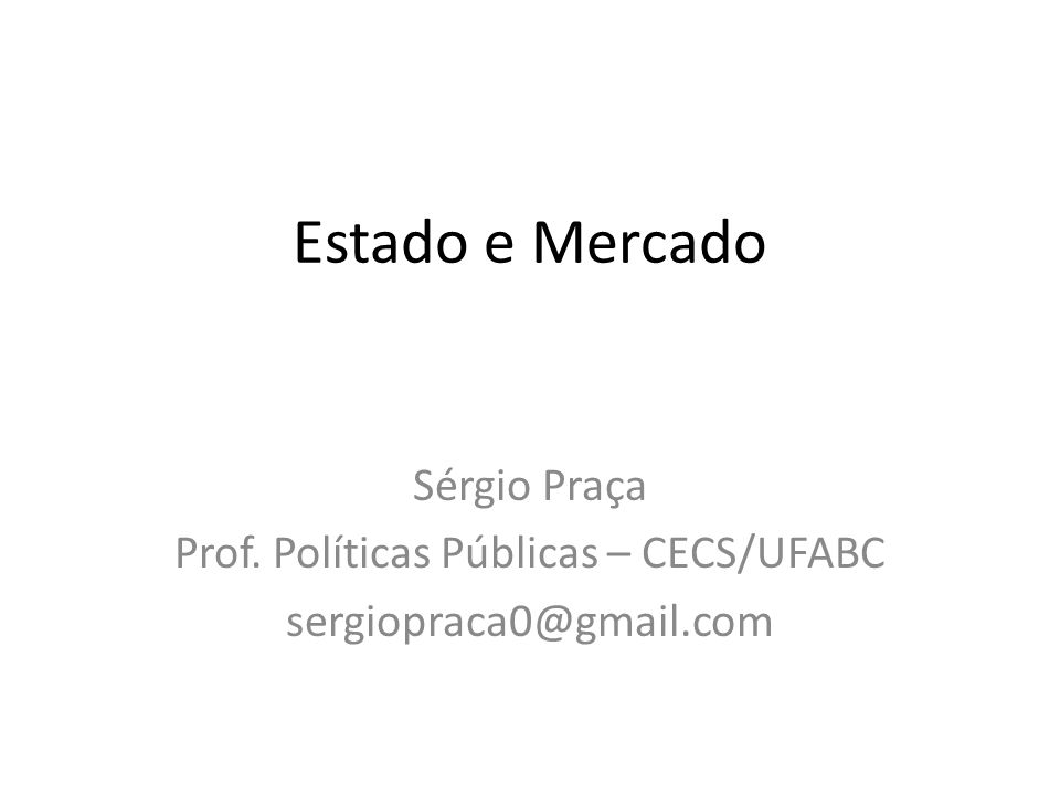 Prof. Políticas Públicas – CECS/UFABC
