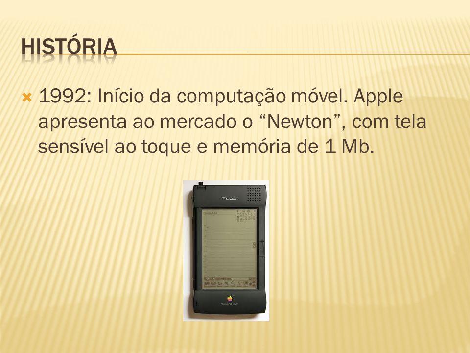História 1992: Início da computação móvel.