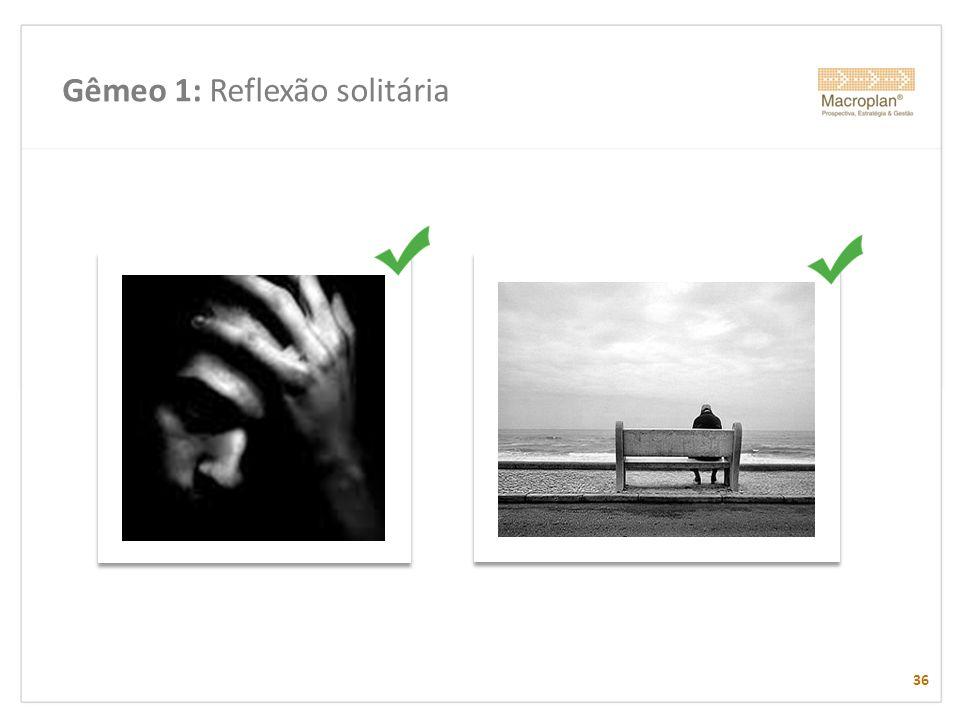 Gêmeo 1: Reflexão solitária