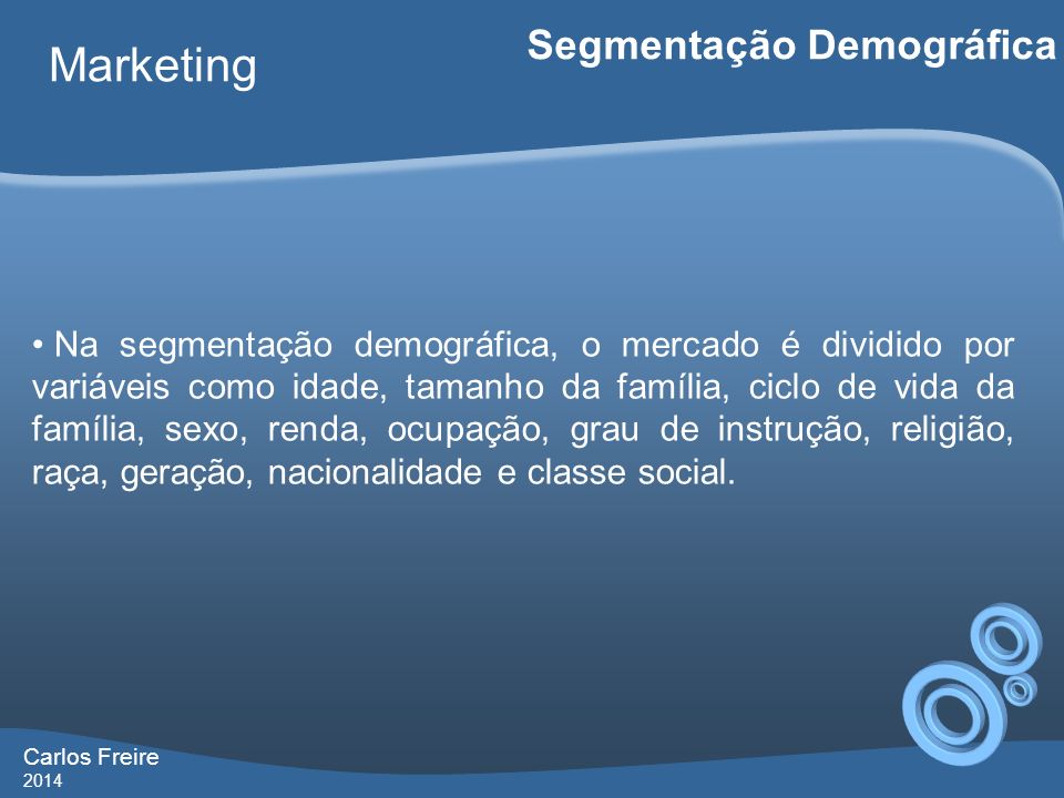 Marketing Segmentação Demográfica