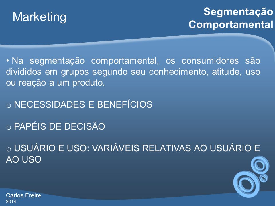 Marketing Segmentação Comportamental