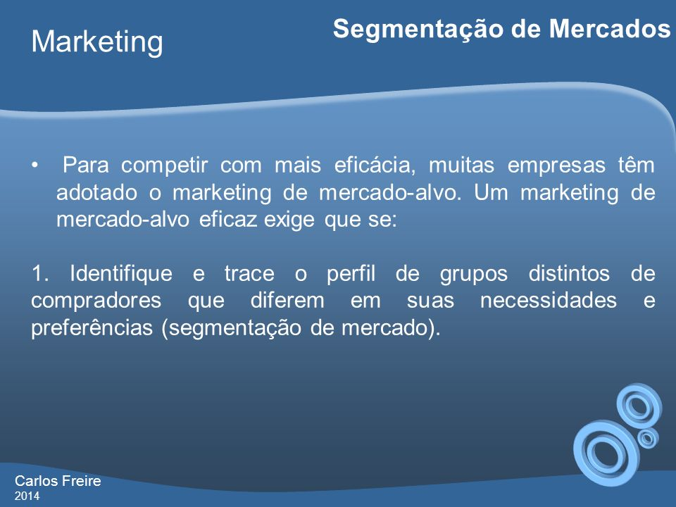 Marketing Segmentação de Mercados