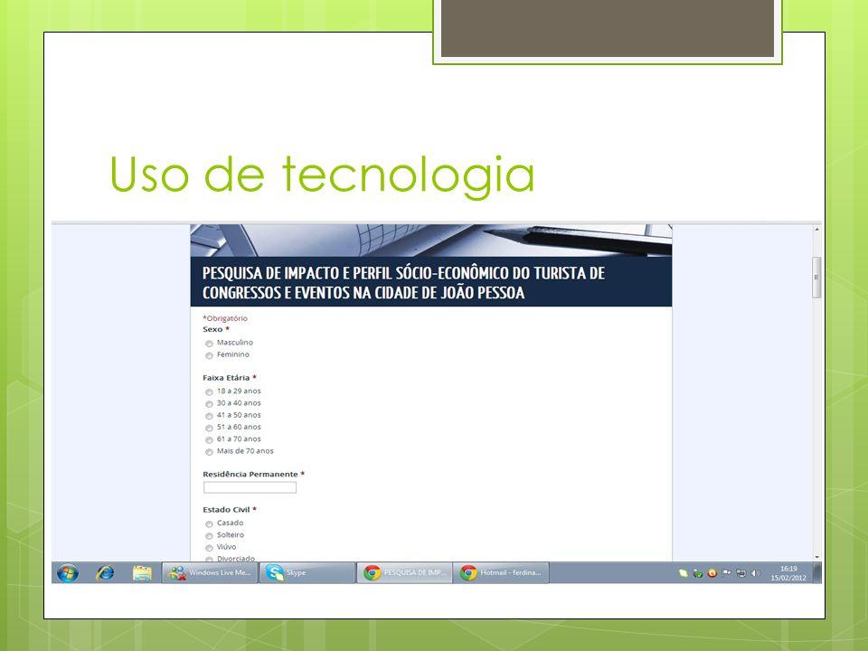 Uso de tecnologia
