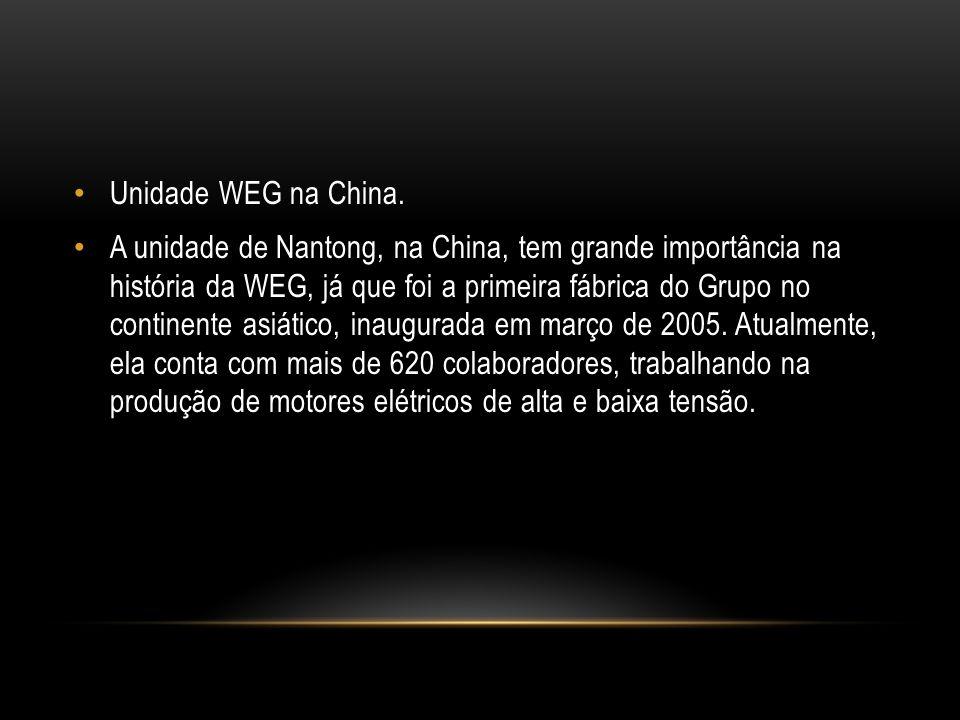 Unidade WEG na China.
