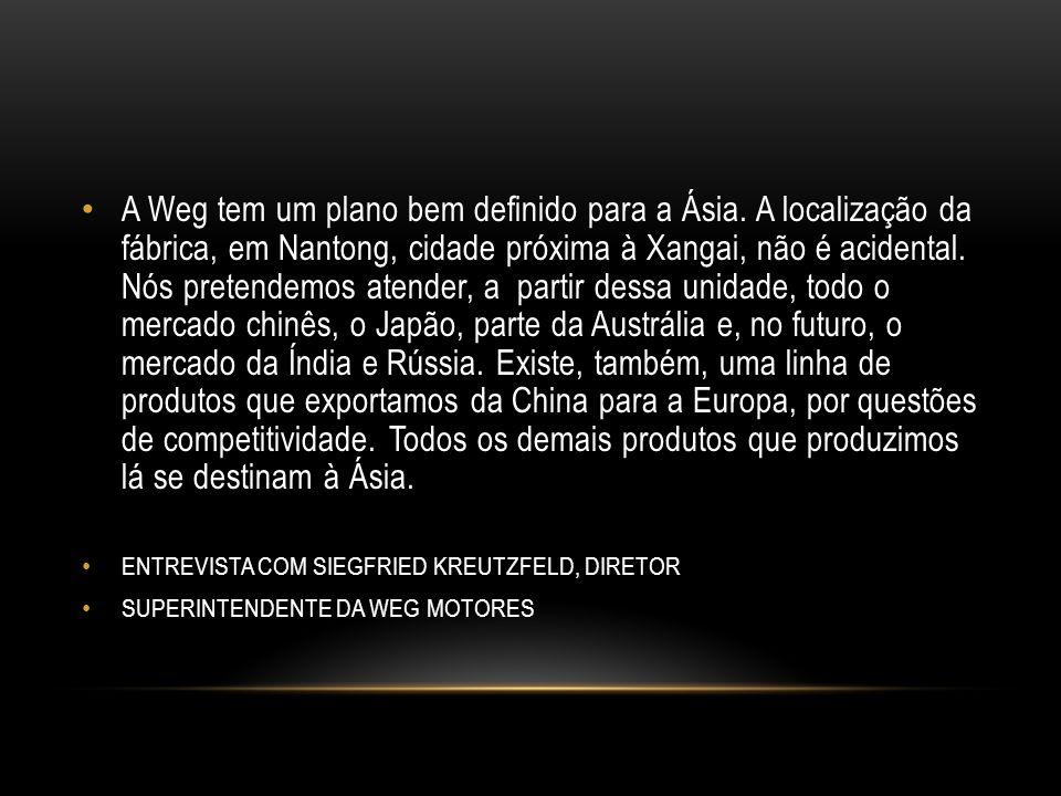 A Weg tem um plano bem definido para a Ásia