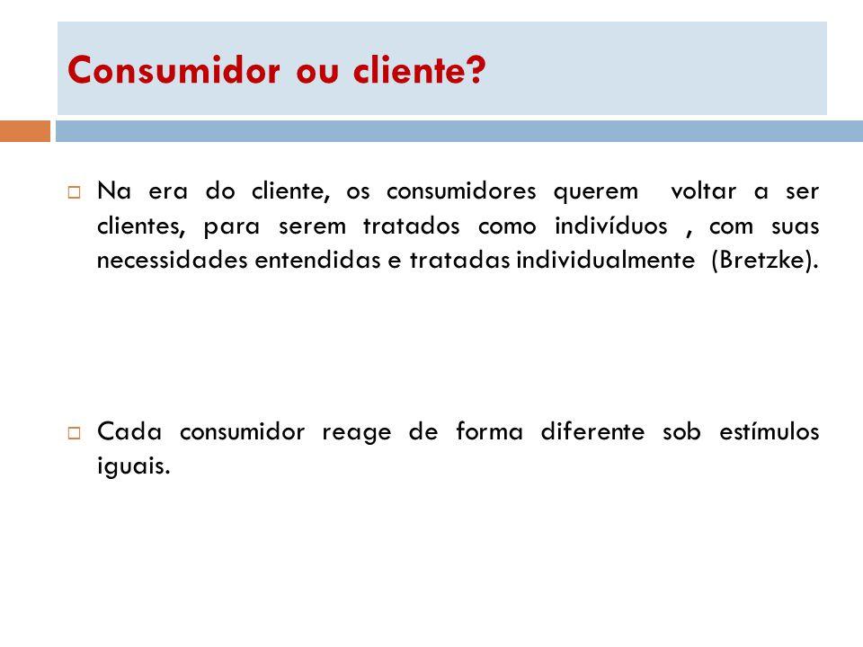 Consumidor ou cliente