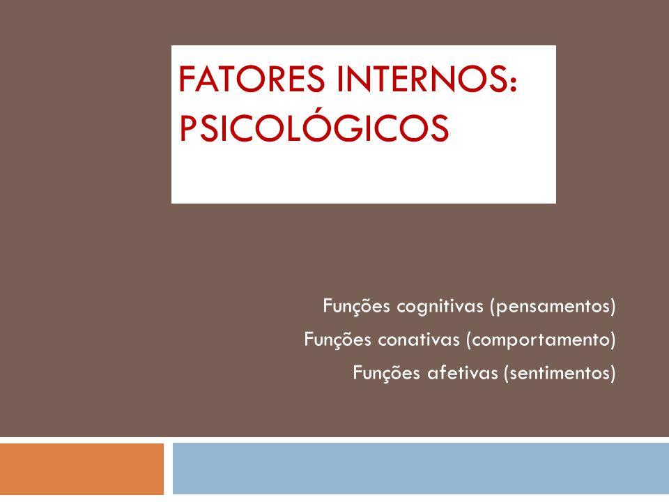 Fatores Internos: Psicológicos