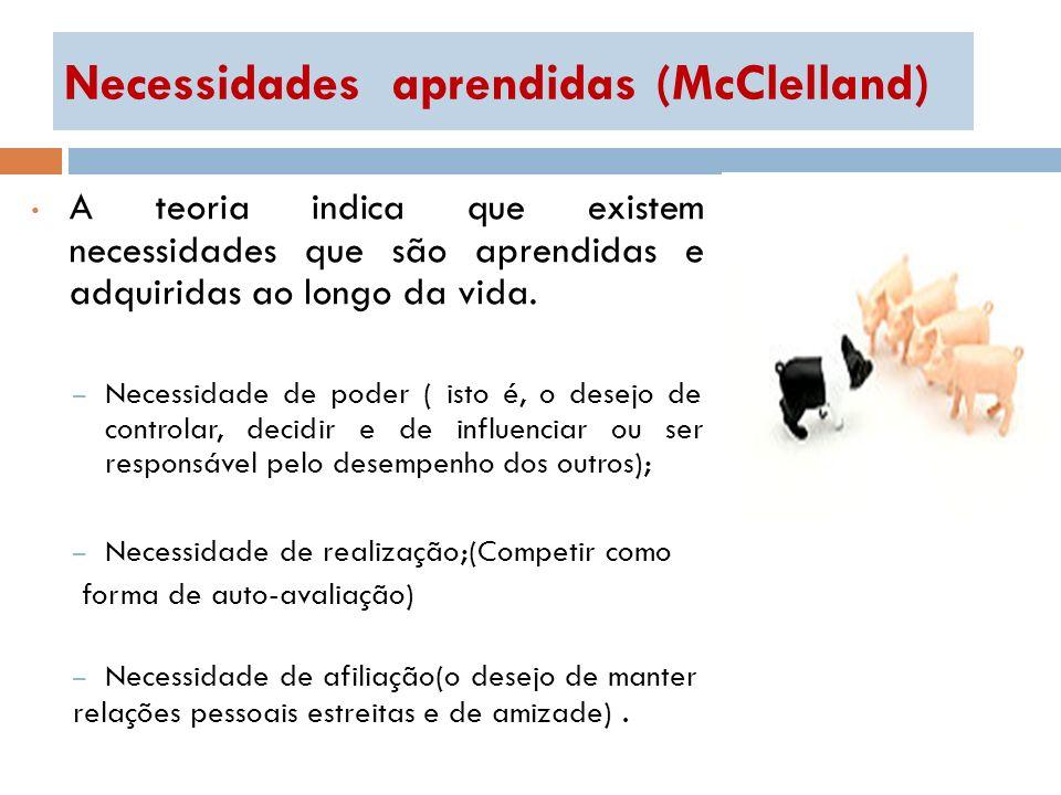 Necessidades aprendidas (McClelland)