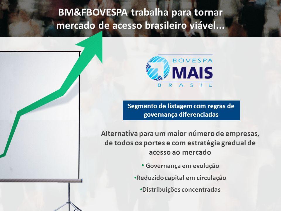 BM&FBOVESPA trabalha para tornar mercado de acesso brasileiro viável...