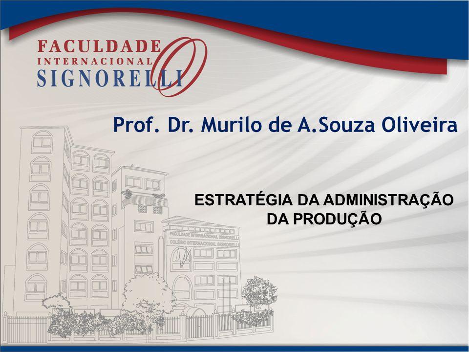 Prof. Dr. Murilo de A.Souza Oliveira ESTRATÉGIA DA ADMINISTRAÇÃO