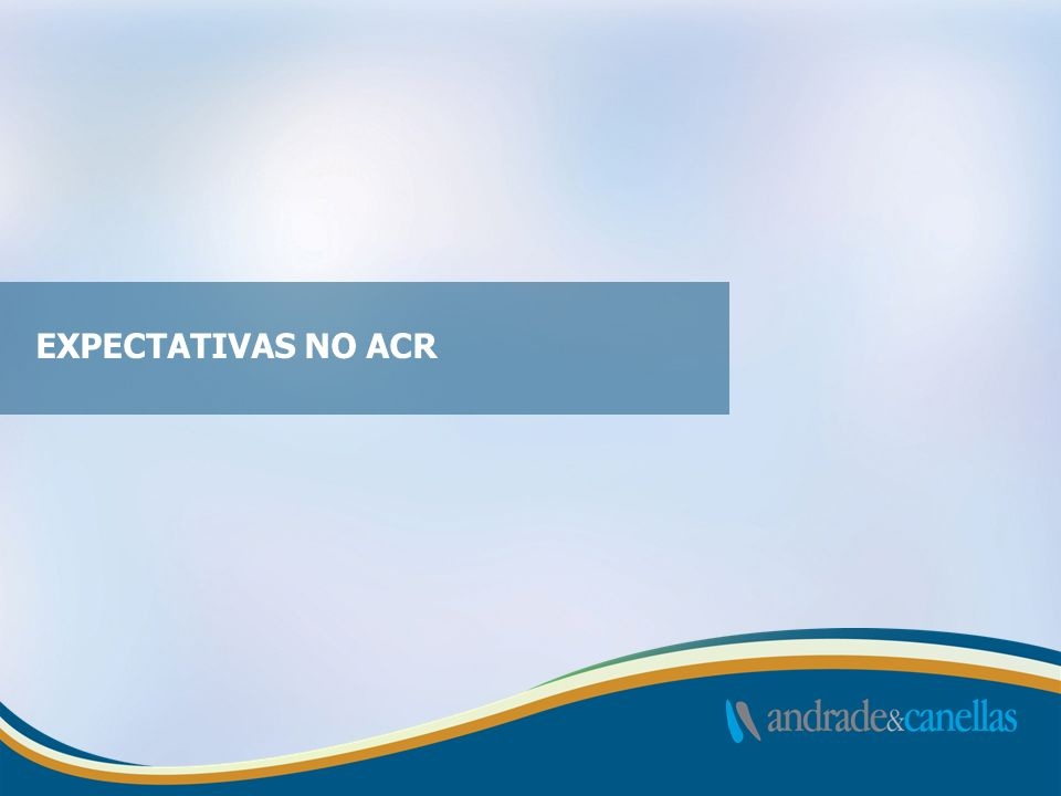 EXPECTATIVAS NO ACR 13