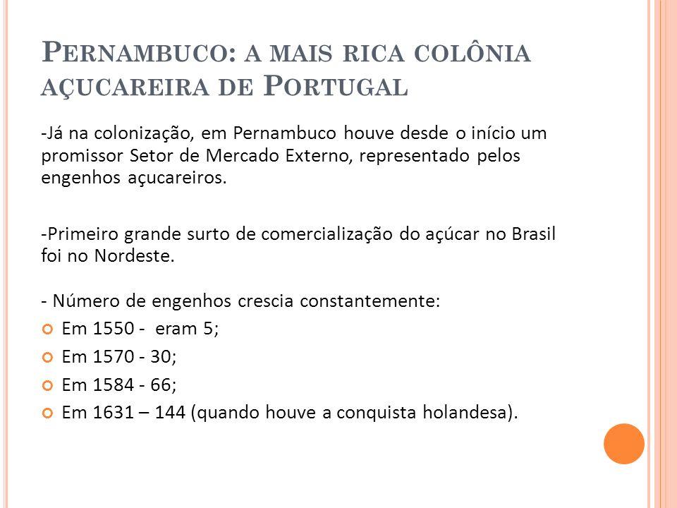 Pernambuco: a mais rica colônia açucareira de Portugal