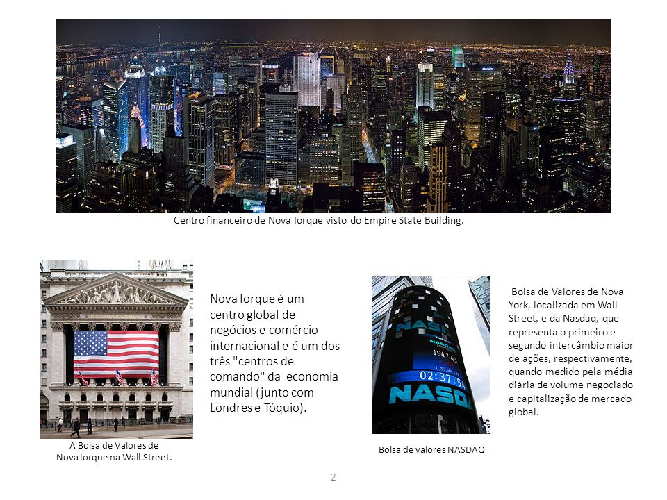 Nova Iorque na Wall Street.