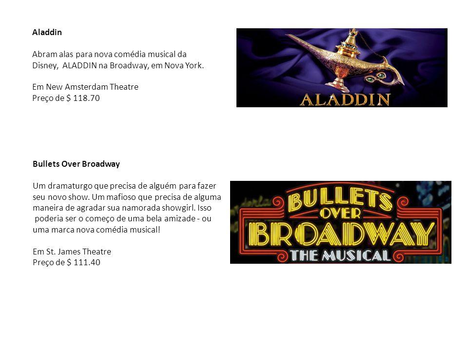 Aladdin Abram alas para nova comédia musical da Disney, ALADDIN na Broadway, em Nova York. Em New Amsterdam Theatre.