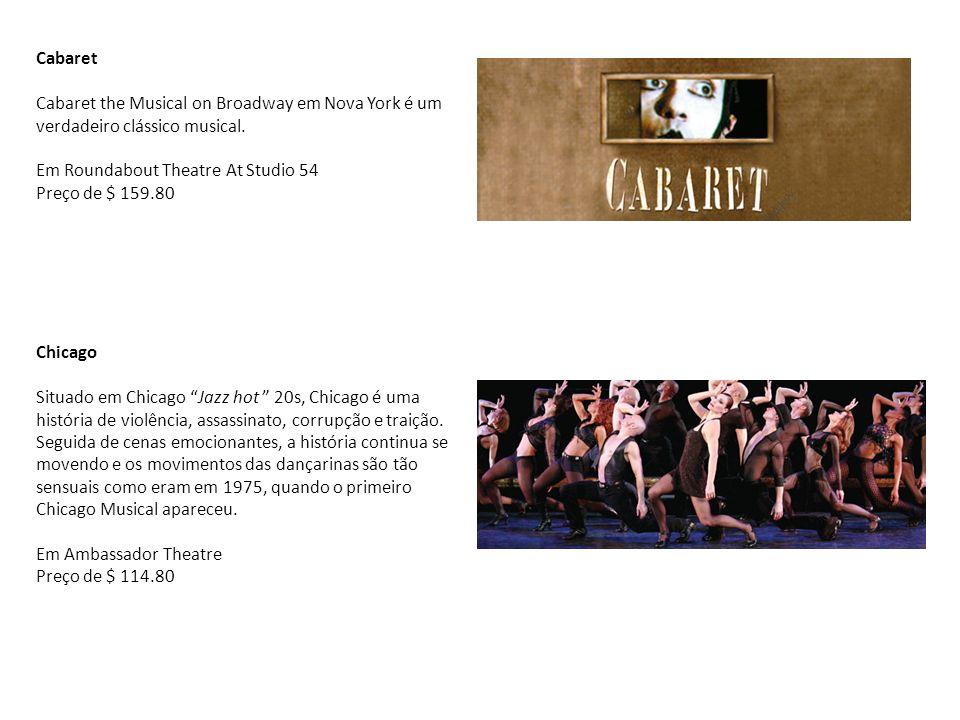 Cabaret Cabaret the Musical on Broadway em Nova York é um verdadeiro clássico musical. Em Roundabout Theatre At Studio 54.