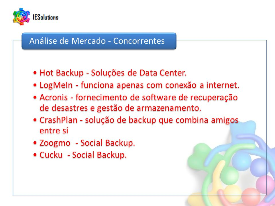 Hot Backup - Soluções de Data Center.