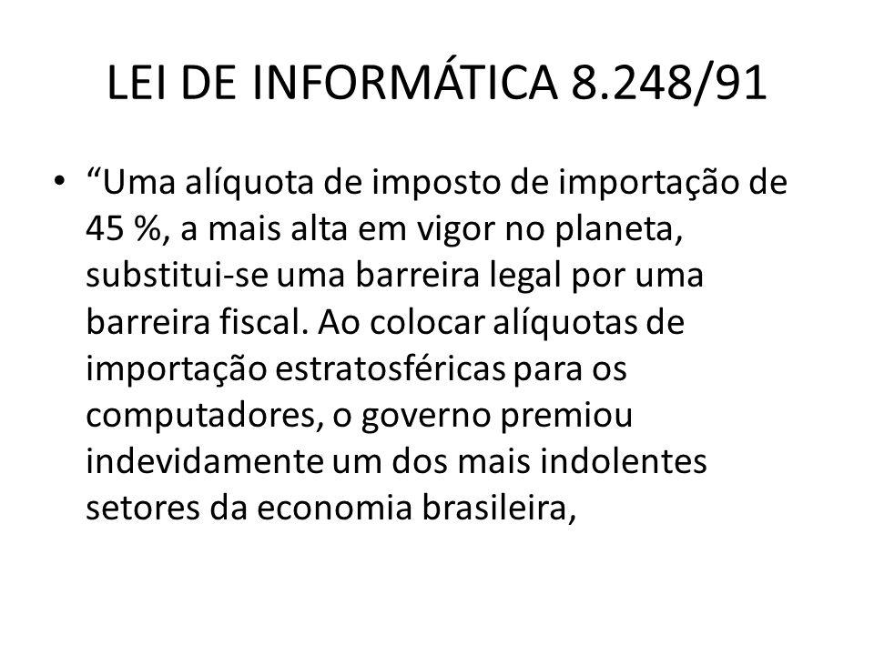 LEI DE INFORMÁTICA 8.248/91