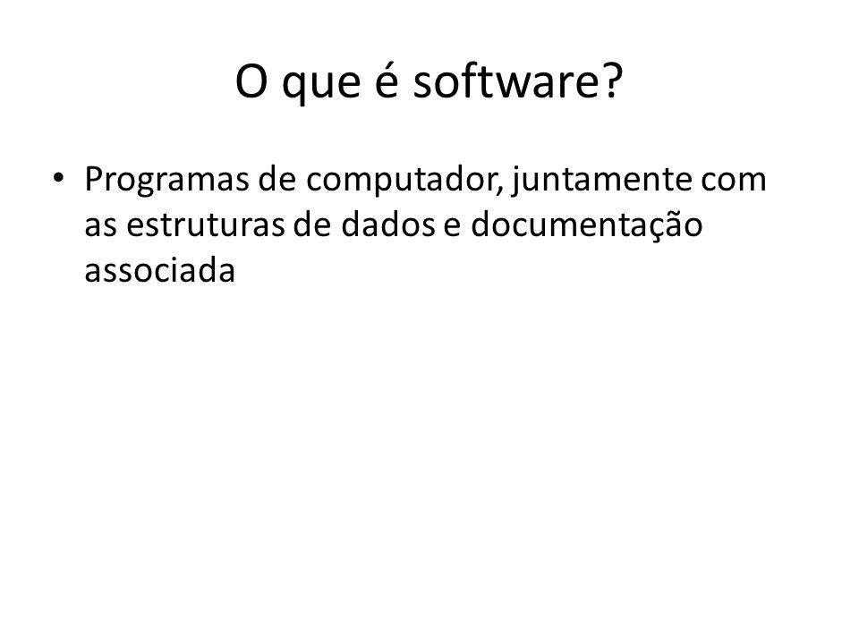 O que é software.