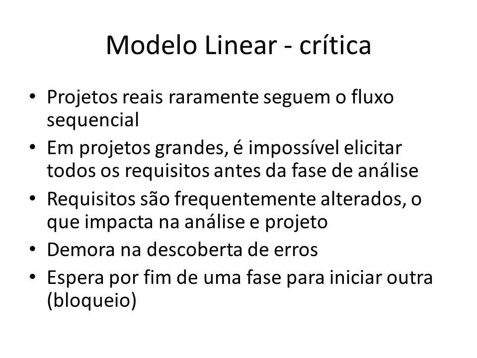 Modelo Linear - crítica