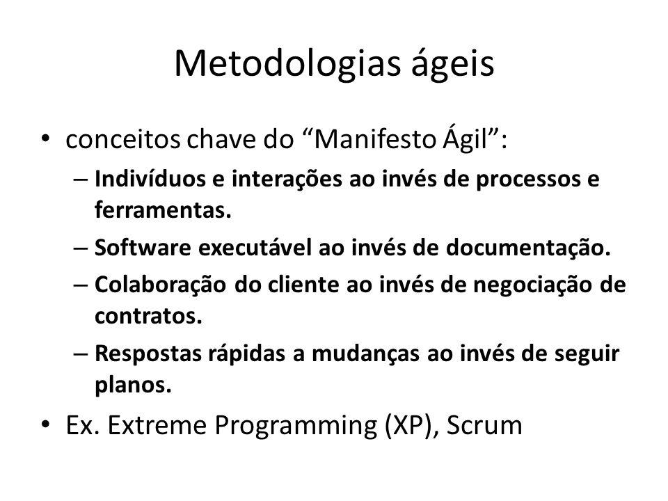 Metodologias ágeis conceitos chave do Manifesto Ágil :