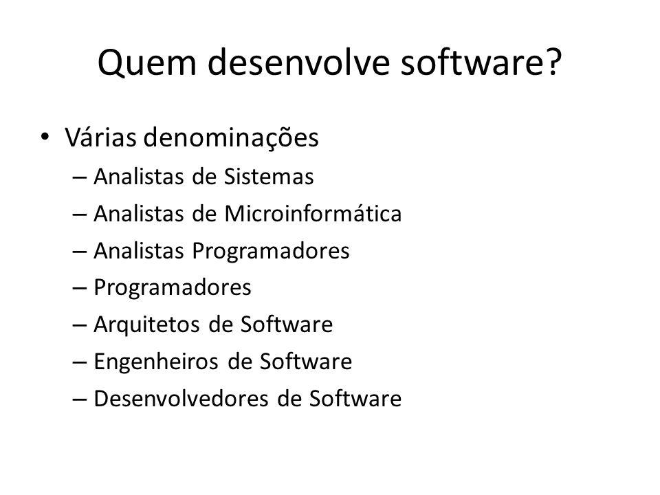 Quem desenvolve software