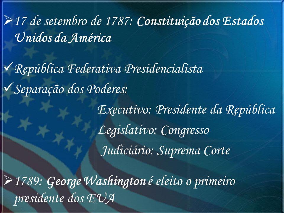 17 de setembro de 1787: Constituição dos Estados Unidos da América