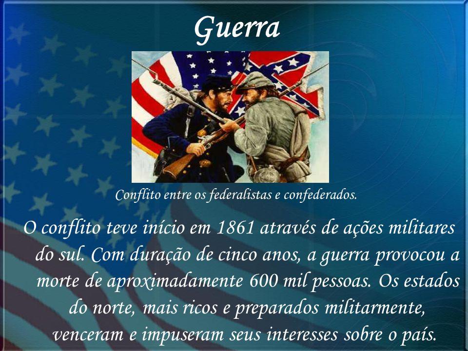 Conflito entre os federalistas e confederados.