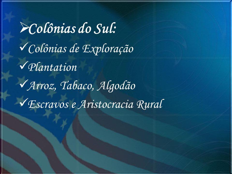 Colônias do Sul: Colônias de Exploração Plantation