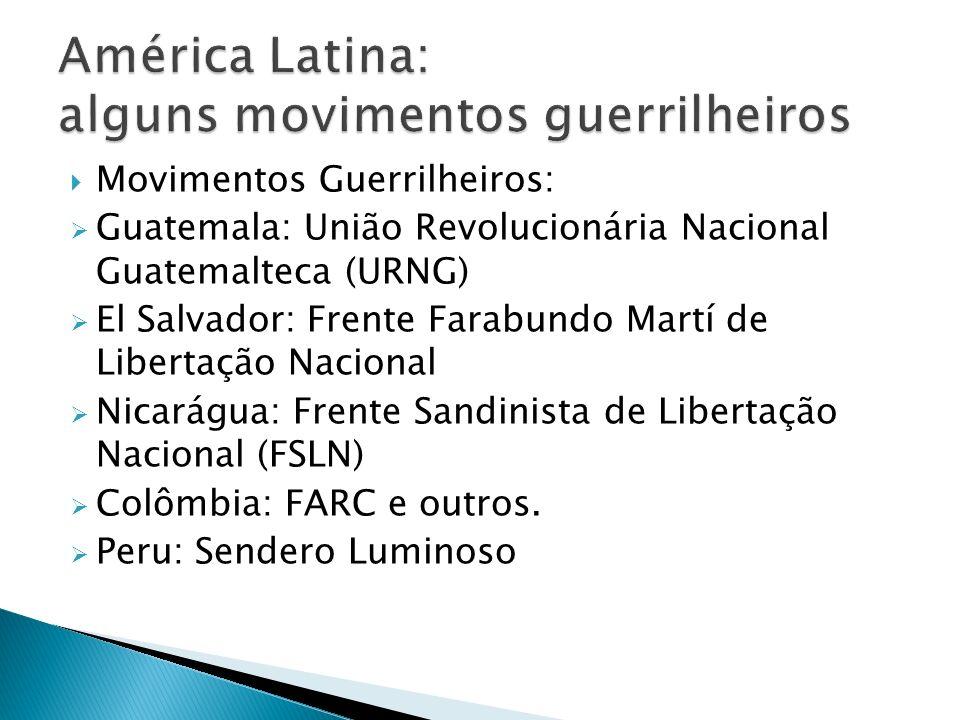 América Latina: alguns movimentos guerrilheiros