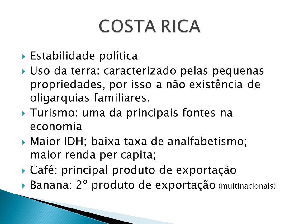 COSTA RICA Estabilidade política