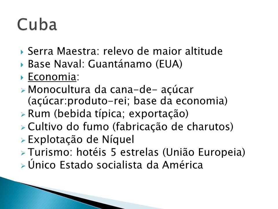 Cuba Serra Maestra: relevo de maior altitude
