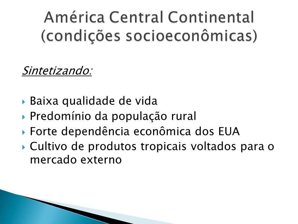 América Central Continental (condições socioeconômicas)